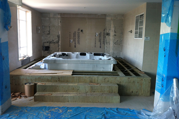 construction of luxury interior pool area 02