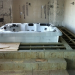 Construction of Luxury Interior Pool Area 04