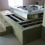 Construction of Luxury Interior Pool Area 03