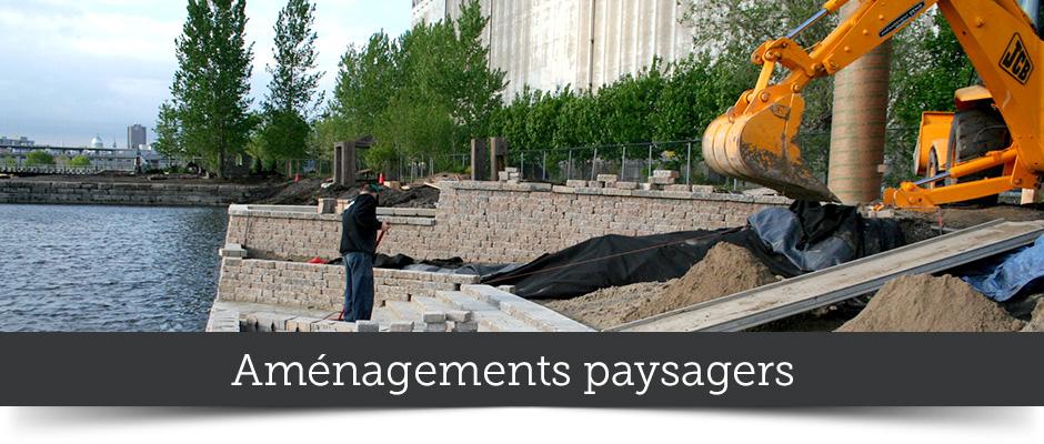 Construction d'aménagements paysagers