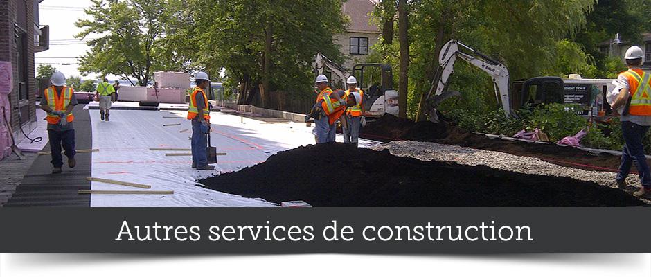 Autres services de construction