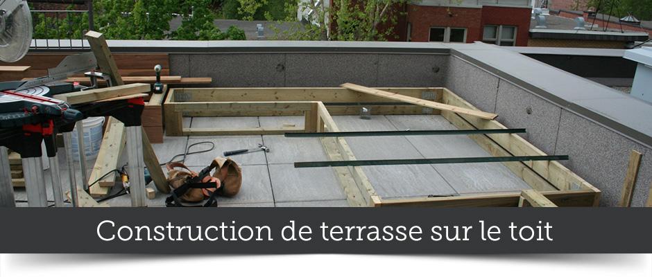 Construction de terrasse sur le toit