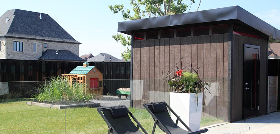 Cabanons et remises de jardin modernes montreal outdoor living - Plan cabanon contemporain ...