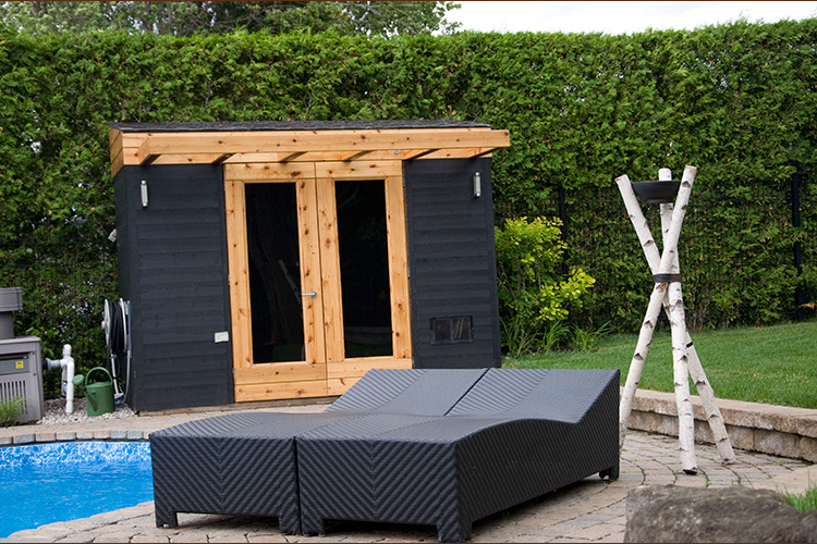 cabanons et remises de jardin modernes montreal outdoor living. Black Bedroom Furniture Sets. Home Design Ideas