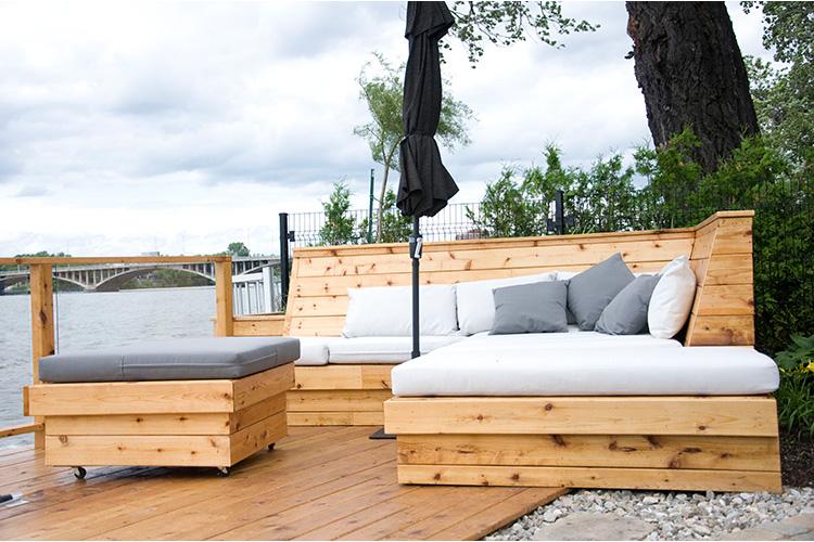 Une terrasse moderne à montréal   montreal outdoor living