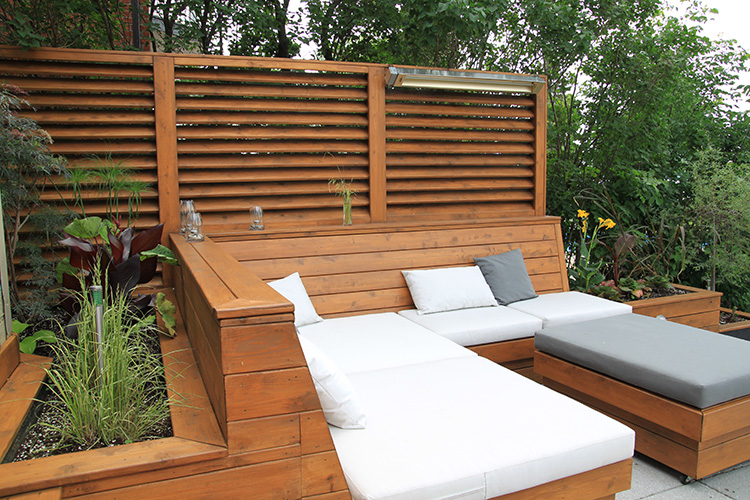 une terrasse moderne montr al montreal outdoor living. Black Bedroom Furniture Sets. Home Design Ideas