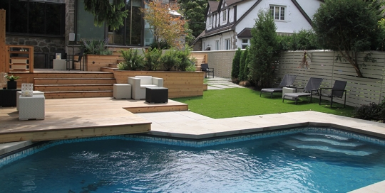 Backyard Pool Decking