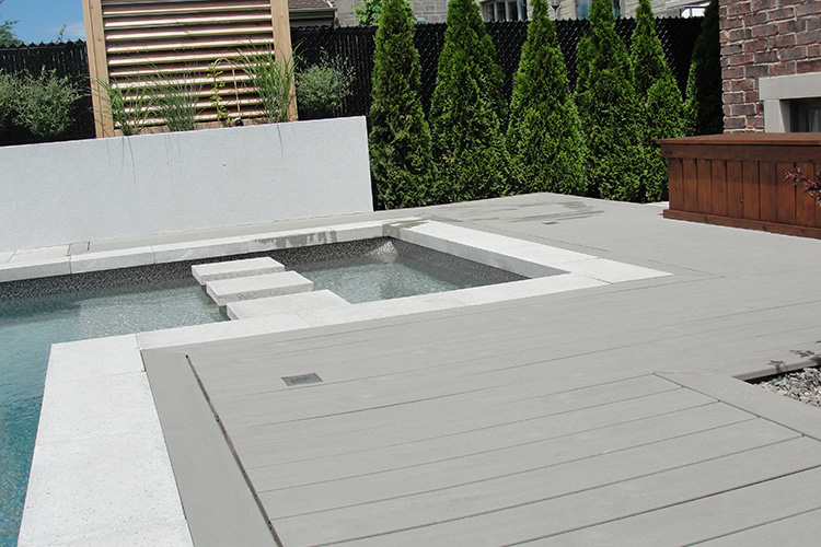 Composite wood pool decking montreal outdoor living Composite flooring for decks