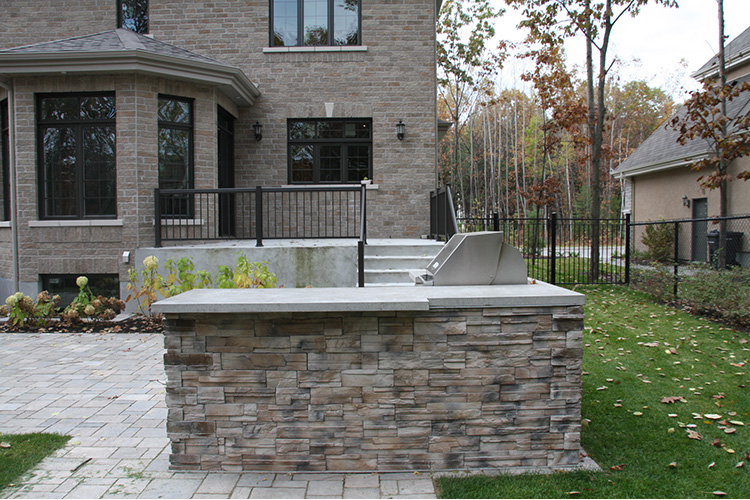 Contemporary Outdoor Kitchen Montreal Outdoor Living
