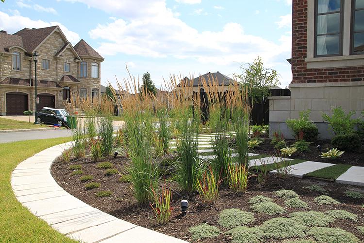 am nagement paysager moderne et jardin ville st laurent montreal outdoor living. Black Bedroom Furniture Sets. Home Design Ideas