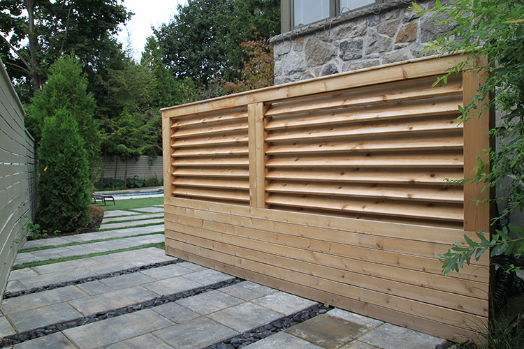 Modern Backyard Fence : Modern Minimalist Fences  Montreal Outdoor Living