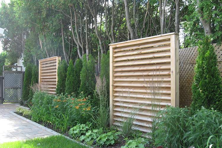 Contemporary Backyard Fences : Modern Minimalist Fences  Montreal Outdoor Living