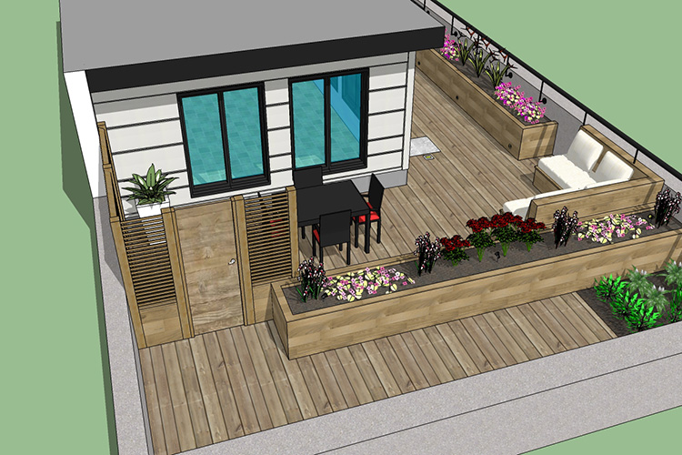 Rooftop Design Cool Rooftop & Deck Design Service  Montreal Outdoor Living Decorating Design