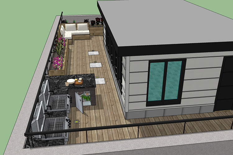 rooftop deck design service montreal outdoor living