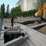 Construction of Flora Exposition in Old Port of Montreal 16