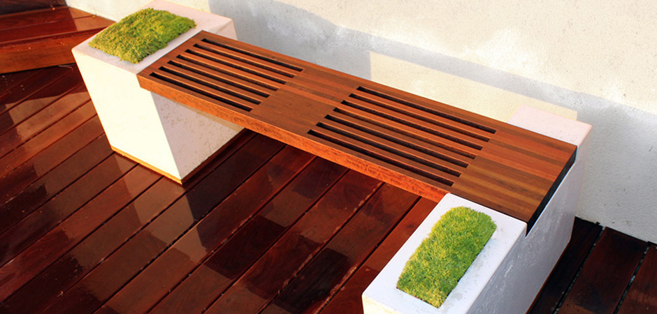 Creative Concrete Bench Idea Montreal Outdoor Living