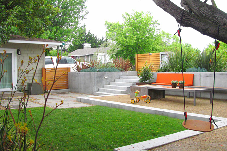 Modern backyard design ideas montreal outdoor living for Modern landscape ideas