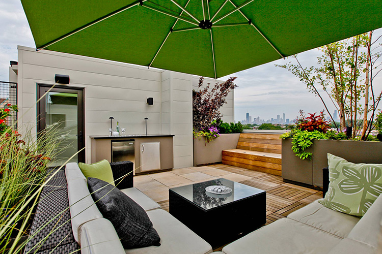 Modern Rooftop Innovative Ideas Montreal Outdoor Living