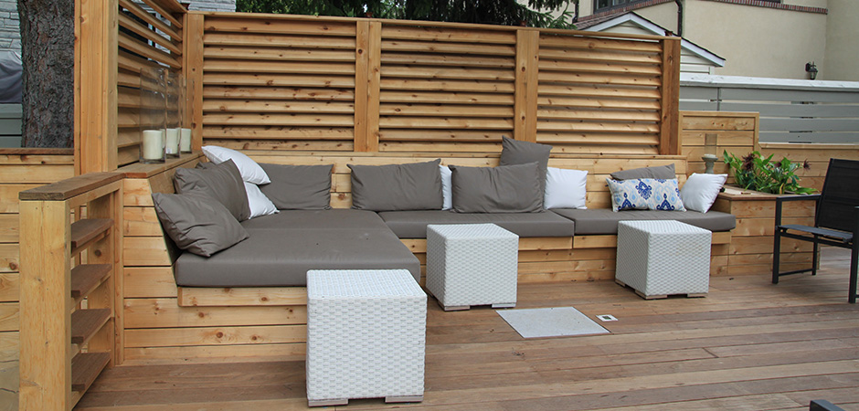 banquettes outdoor living montreal outdoor living. Black Bedroom Furniture Sets. Home Design Ideas