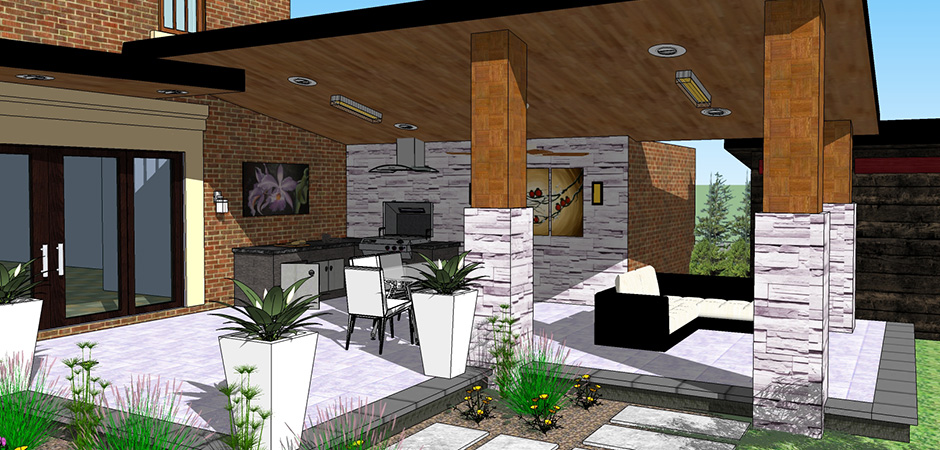 Architecture de paysage montreal outdoor living for Amenagement cours exterieur