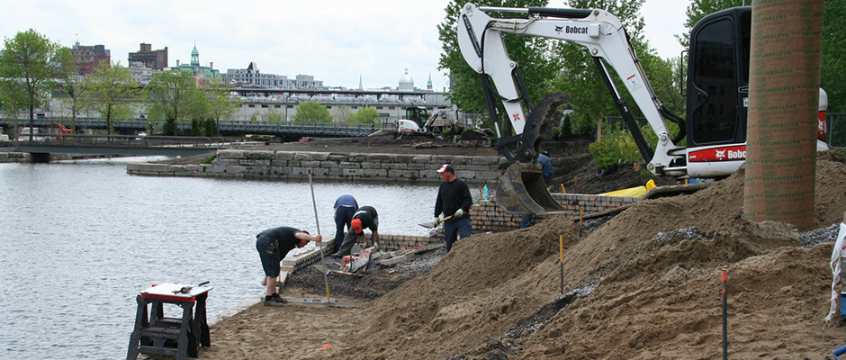 Construction of Flora Exposition in Old Port of Montreal 14